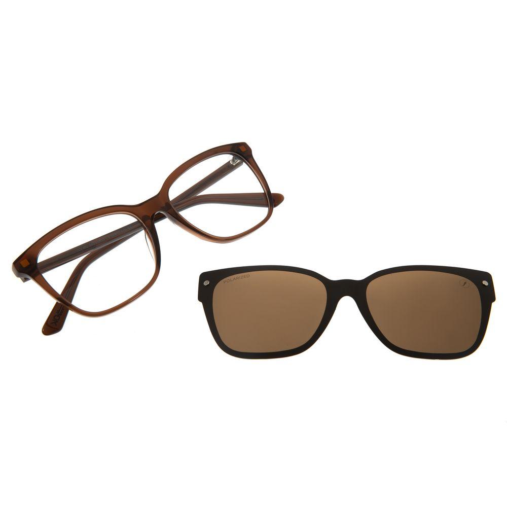 Armação Para Óculos de Grau Feminino Alok Cat Polarizado Marrom LV.MU.0451-0202