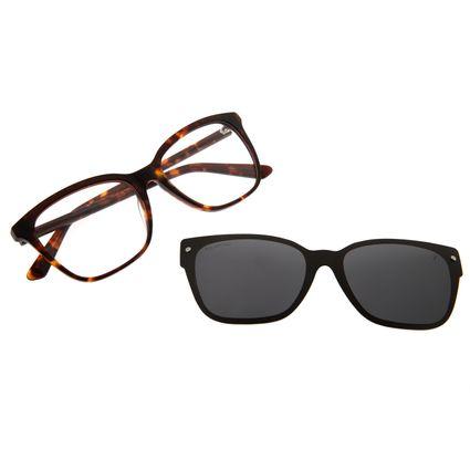 Armação Para Óculos de Grau Feminino Alok Cat Polarizado Tartaruga .MU.0451-0506