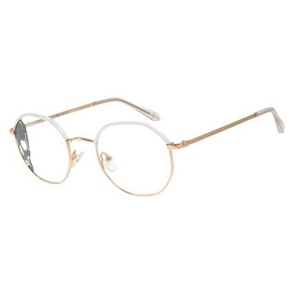 Armação Para Óculos de Grau Multi Feminino Alexandre Herchcovitch Angelicais Dourado LV.MT.0437-2121