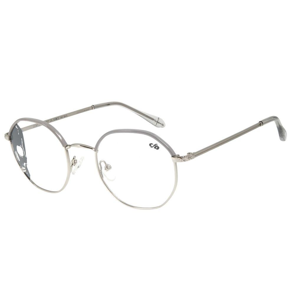 Armação Para Óculos de Grau Multi Feminino Alexandre Herchcovitch Angelicais Prata LV.MT.0437-0707