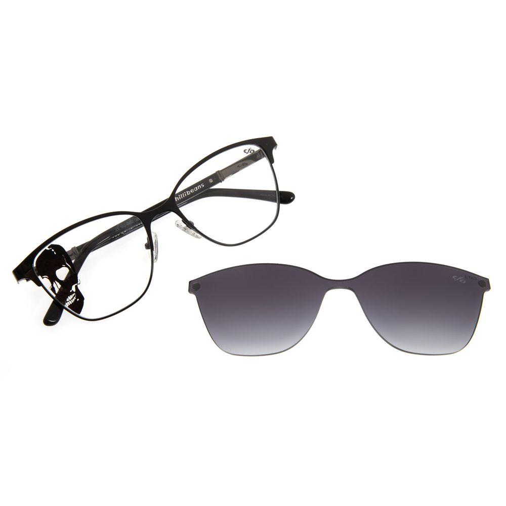 Armação Para Óculos de Grau Multi Masculino Alexandre Herchcovitc O Rio Estige Preto LV.MU.0402-2001