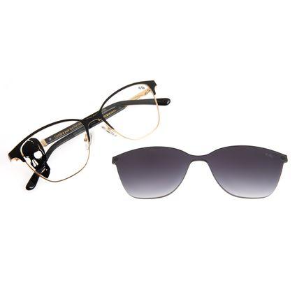 Armação Para Óculos de Grau Multi Masculino Alexandre Herchcovitc O Rio Estige Dourado LV.MU.0402-2021