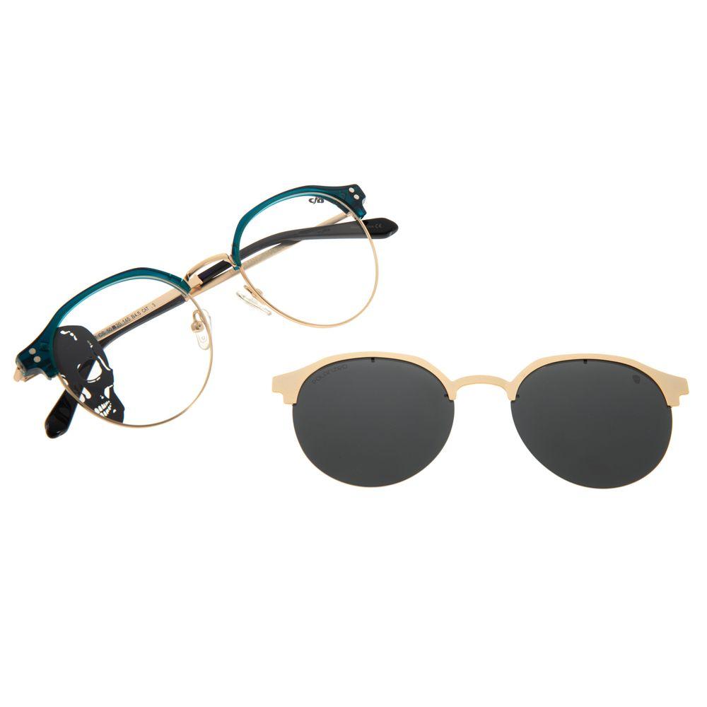 Armação Para Óculos de Grau Multi Feminino Alexandre Herchcovitch Dourado LV.MU.0424-0121