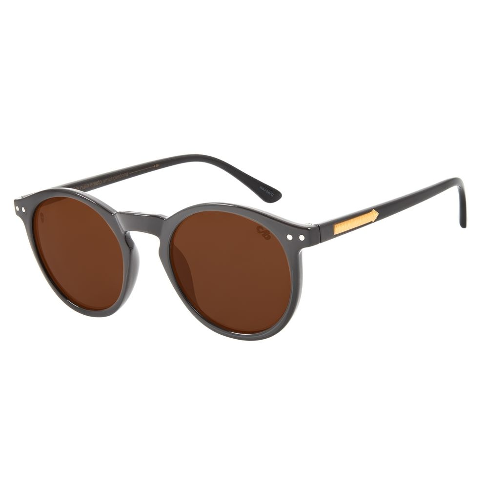 Óculos de Sol Unissex Alexandre Herchcovitch Redondo Marrom OC.CL.3029-0202