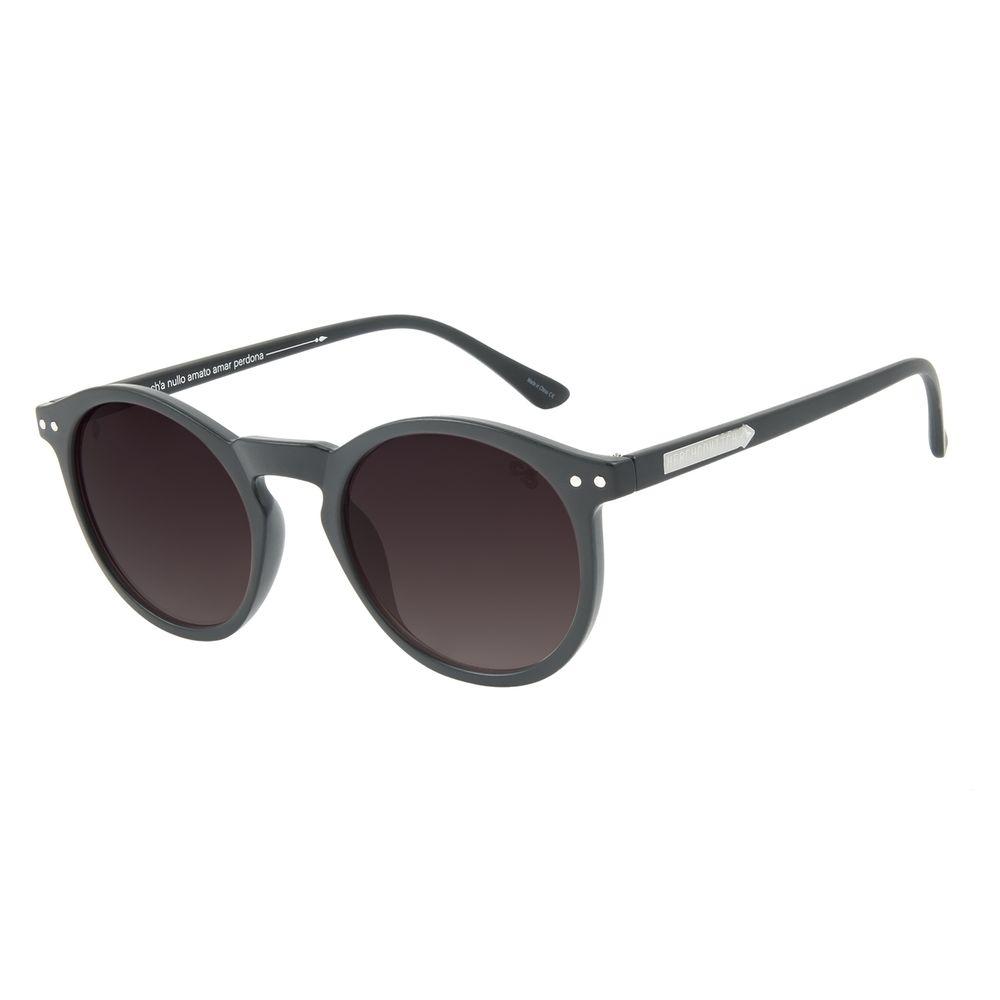 Óculos de Sol Unissex Alexandre Herchcovitch Redondo Preto OC.CL.3029-2001