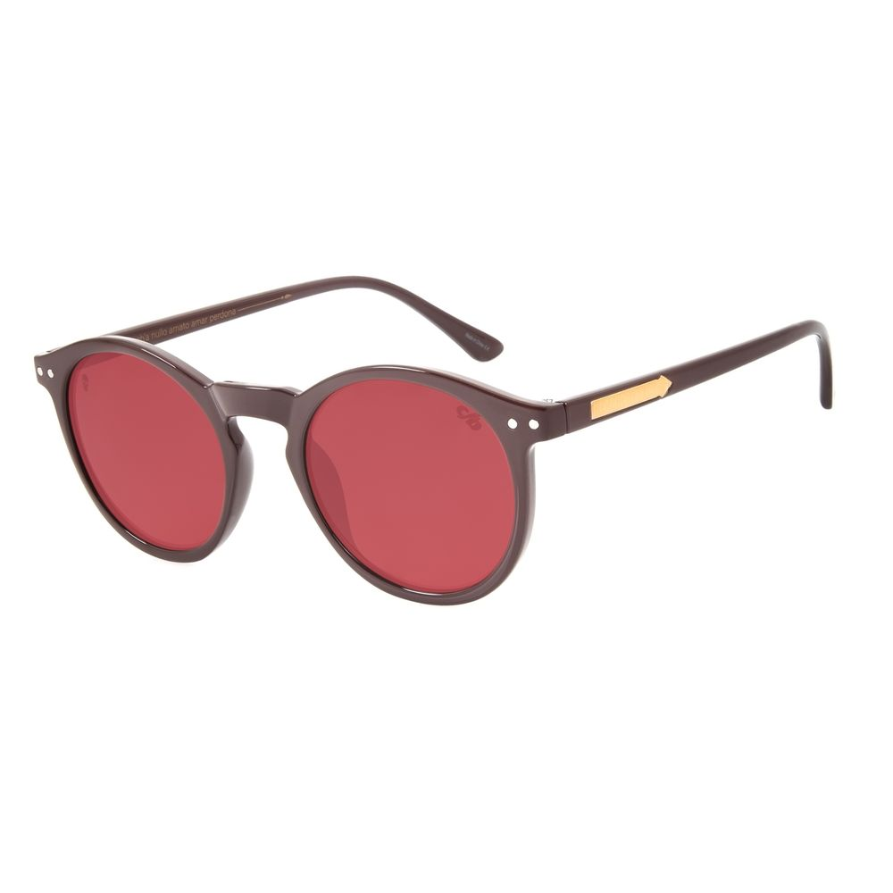 Óculos de Sol Unissex Alexandre Herchcovitch Redondo Vinho OC.CL.3029-1717