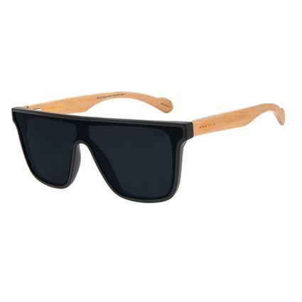 Óculos de Sol Masculino Alexandre Herchcovitch Quadrado Madeira Preto OC.CL.3038-0501