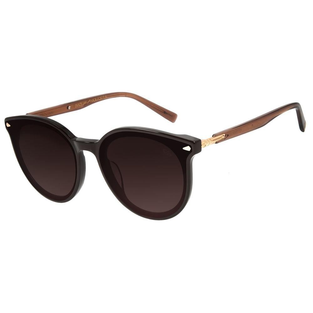 Óculos de Sol Feminino Alexandre Herchcovitch Flecha Redondo Marrom OC.CL.3039-5702