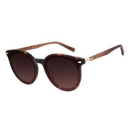 Óculos de Sol Feminino Alexandre Herchcovitch Flecha Redondo Tartaruga OC.CL.3039-5706