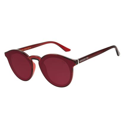 Óculos de Sol Unissex Alexandre Herchcovitch Redondo Vermelho .CL.3040-1616