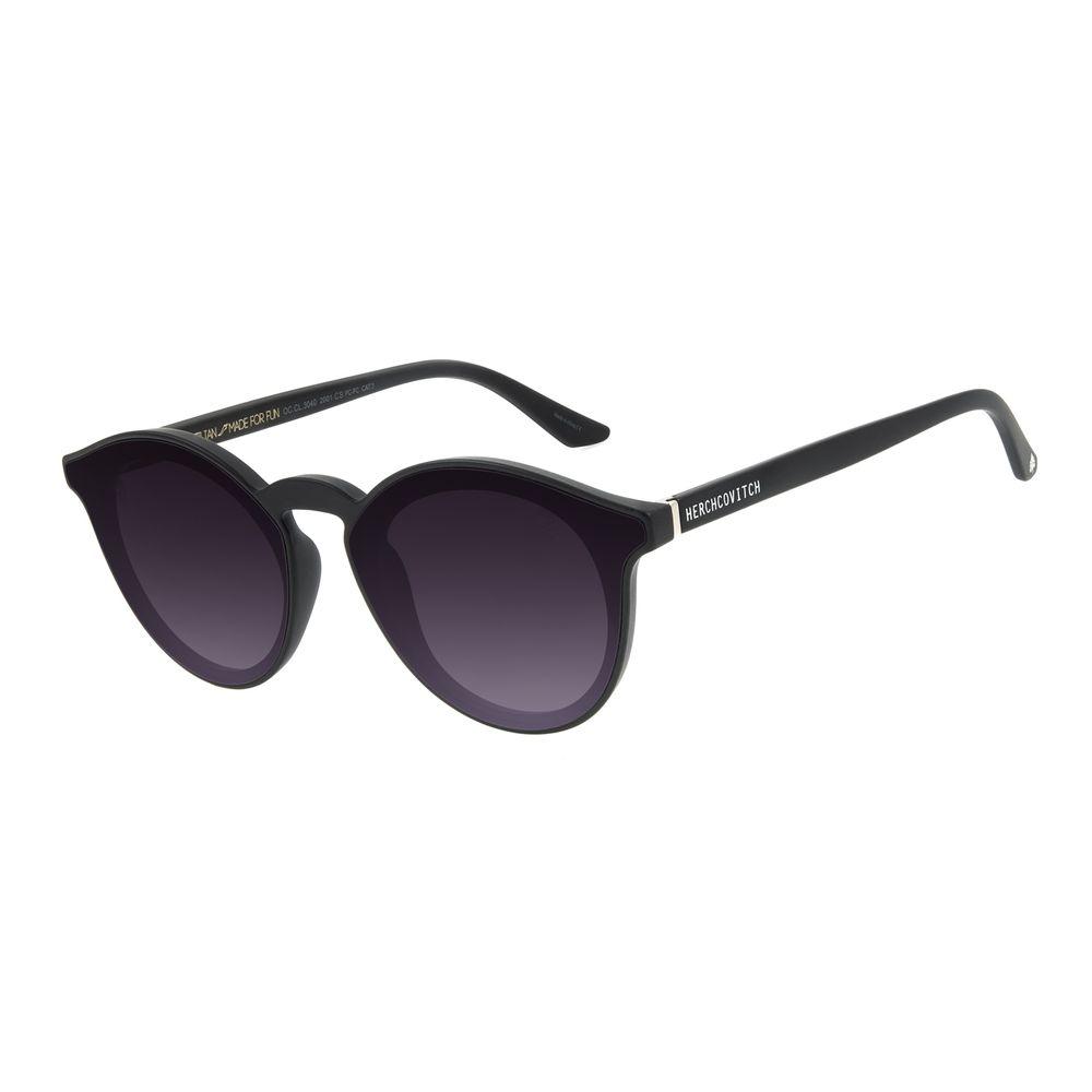 Óculos de Sol Unissex Alexandre Herchcovitch Redondo Preto .CL.3040-2001