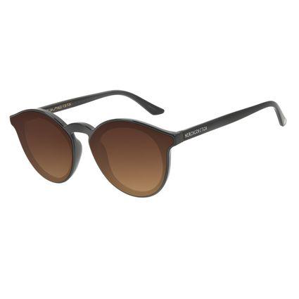Óculos de Sol Unissex Alexandre Herchcovitch Redondo Marrom