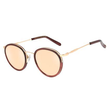 Óculos de Sol Unissex Alexandre Herchcovitch Gula Redondo VermelhoOC.CL.3041-0216