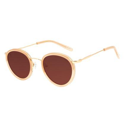 Óculos de Sol Unissex Alexandre Herchcovitch Gula Redondo Marrom OC.CL.3041-0202