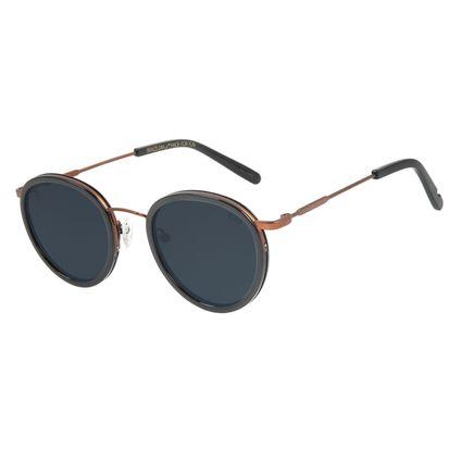 Óculos de Sol Unissex Alexandre Herchcovitch Gula Redondo Fumê .CL.3041-0502