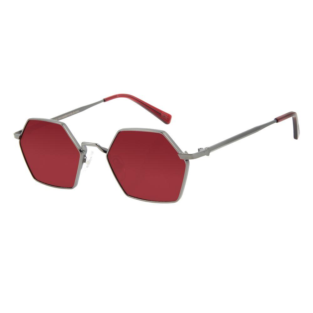 Óculos de Sol Unissex Alexandre Herchcovitch Hexagonal Vinho OC.MT.2863-1722