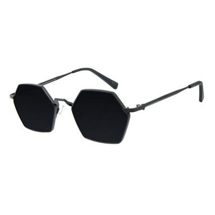 Óculos de Sol Unissex Alexandre Herchcovitch Hexagonal Preto OC.MT.2863-0101