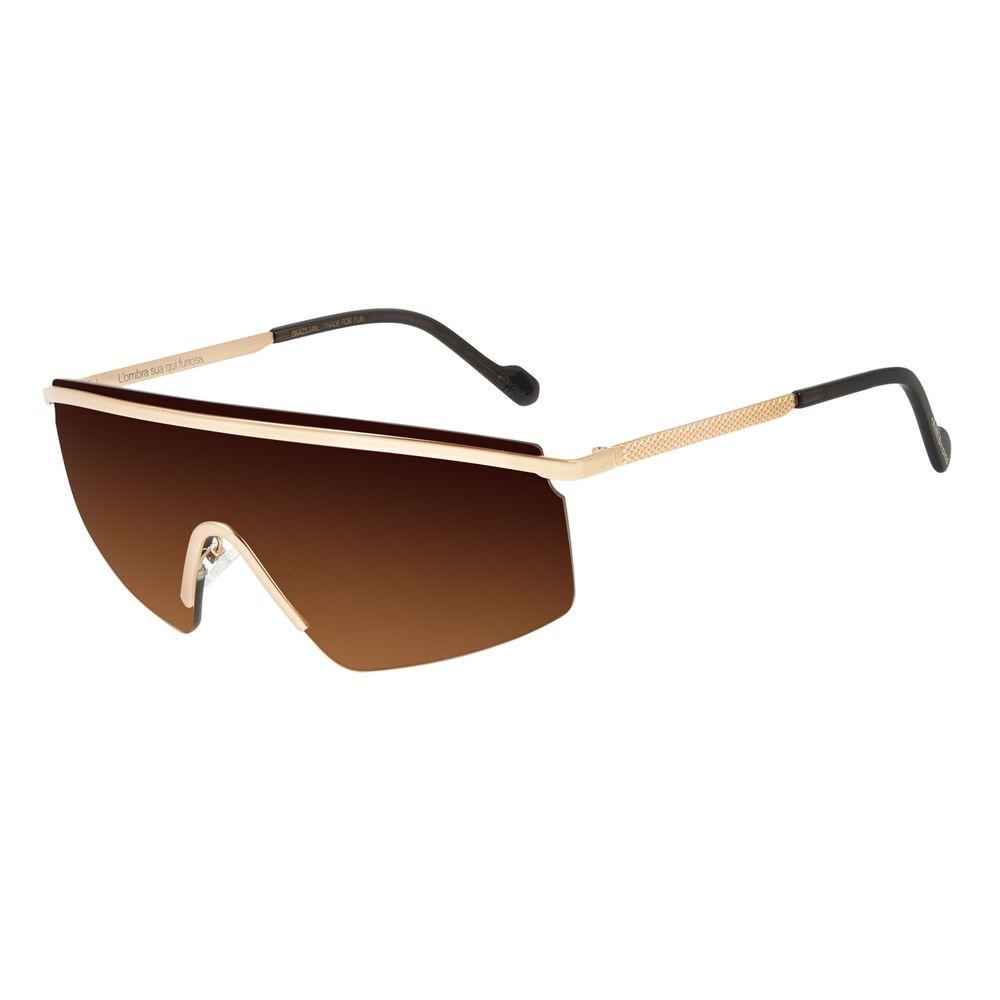 Óculos de Sol Feminino Alexandre Herchcovitch Máscara Dourado OC.MT.2873-5721