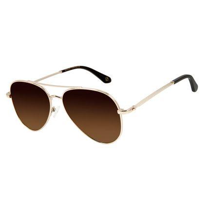 Óculos de Sol Unissex Alexandre Herchcovitch Aviador Dourado OC.MT.2875-5721