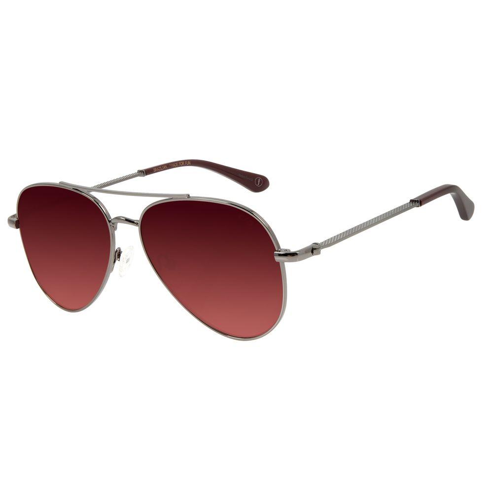 Óculos de Sol Unissex Alexandre Herchcovitch Aviador Ônix OC.MT.2875-1722