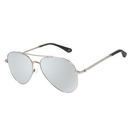 Óculos de Sol Unissex Alexandre Herchcovitch Aviador Prata OC.MT.2875-0507