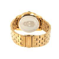 Relógio Analógico Masculino Alexandre Herchcovitch Caveira Metal Dourado RE.MT.0989-2121.2