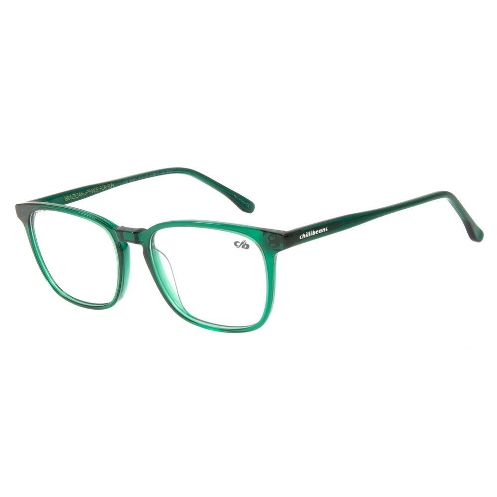 Armação Para Óculos de Grau Masculino Chilli Beans Quadrado Verde LV.AC.0606-1515