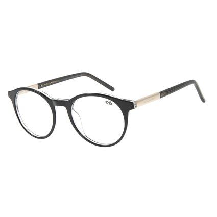Armação Para Óculos de Grau Feminino Chilli Beans Redondo Casual Dourado LV.AC.0615-0121