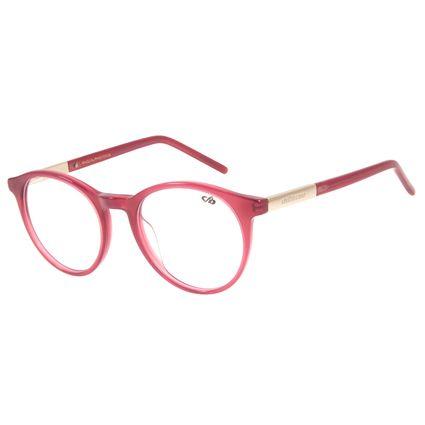 Armação Para Óculos de Grau Feminino Chilli Beans Redondo Casual Rosé LV.AC.0615-9595