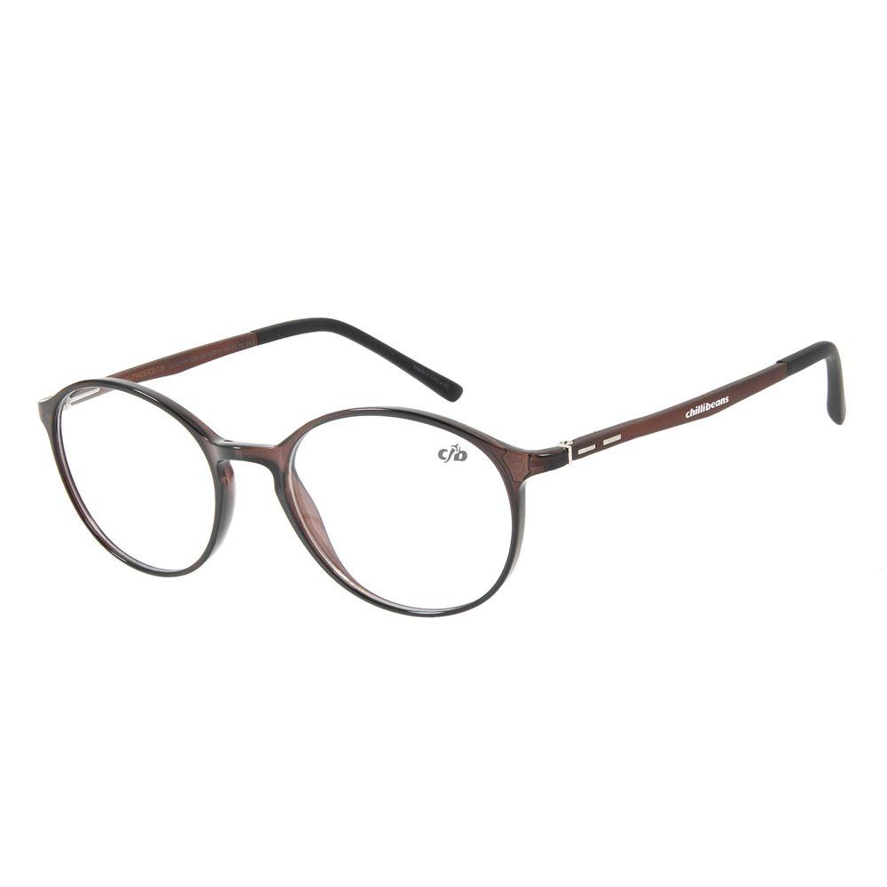 Armação Para Óculos de Grau Unissex Chilli Beans Classic Marrom LV.IJ.0106-0202