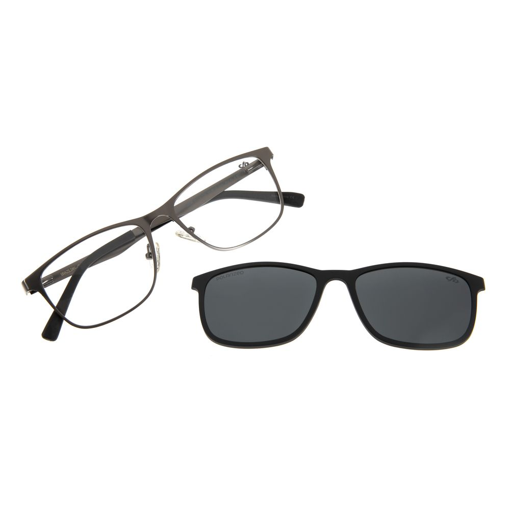 Armação Para Óculos de Grau Masculino Chilli Beans Multi Grafite Polarizado LV.MU.0306-0124