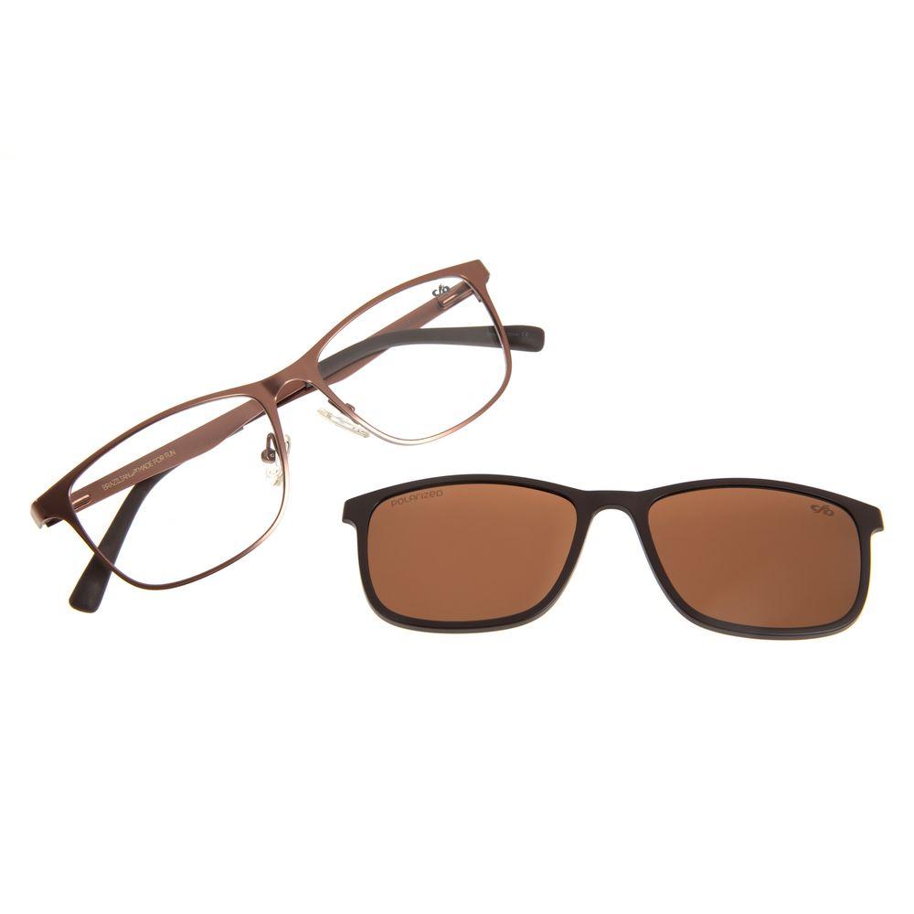 Armação Para Óculos de Grau Masculino Chilli Beans Multi Marrom Escuro Polarizado LV.MU.0306-4747