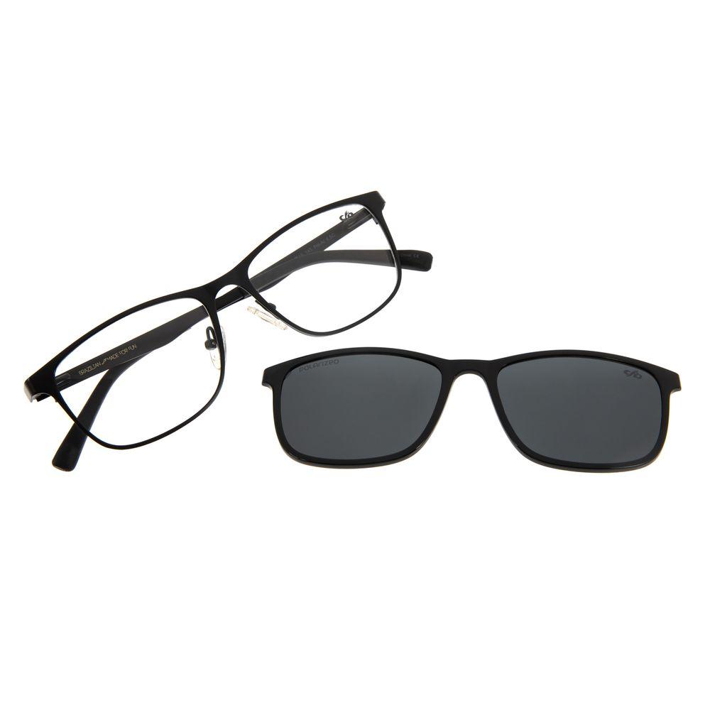 Armação Para Óculos de Grau Masculino Chilli Beans Multi Preto Polarizado LV.MU.0306-0101