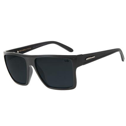 Óculos de Sol Unissex Chilli Beans Quadrado Preto Fosco Polarizado Essential OC.CL.2203-0531