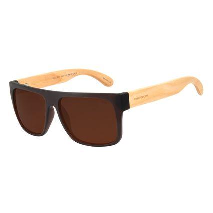 Óculos de Sol Masculino Chilli Beans Esportivo  Marrom Escuro Polarizado OC.CL.3003-0247