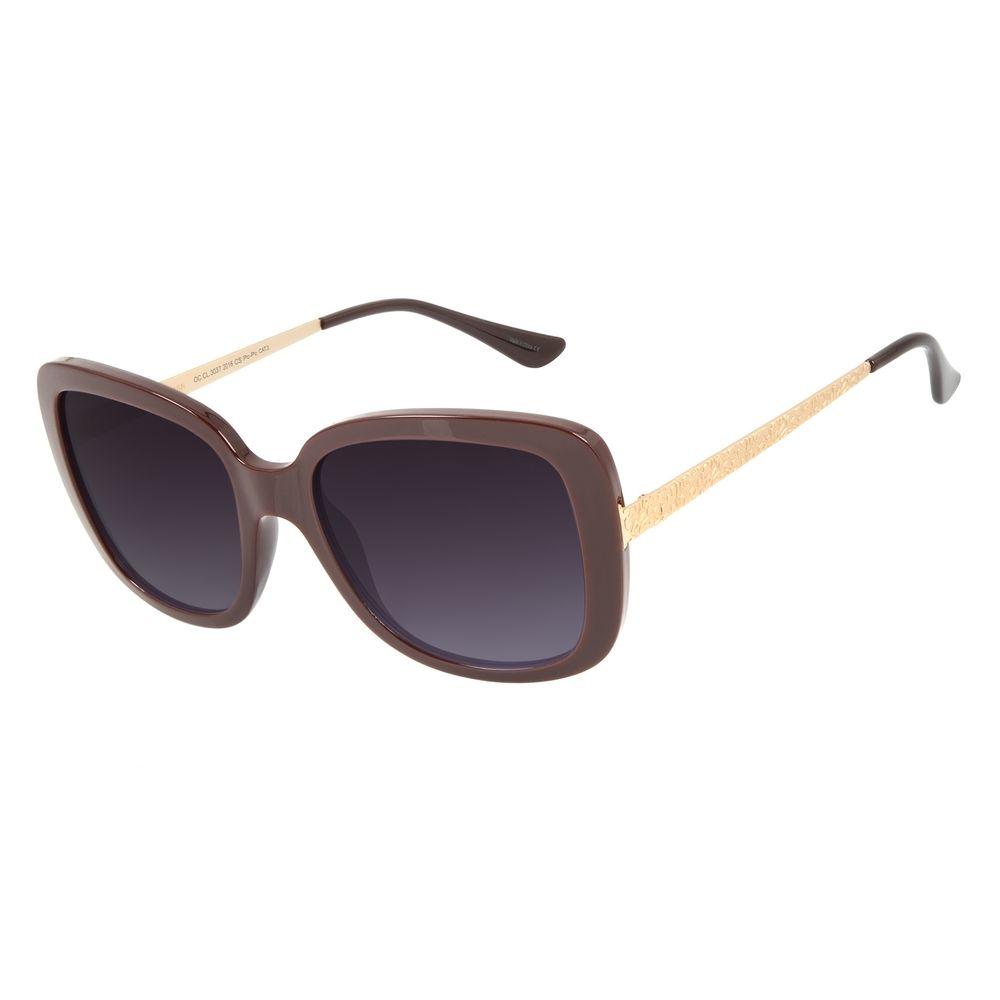 Óculos de Sol Feminino Mãe Natureza Quadrado Vermelho .CL.3037-2016