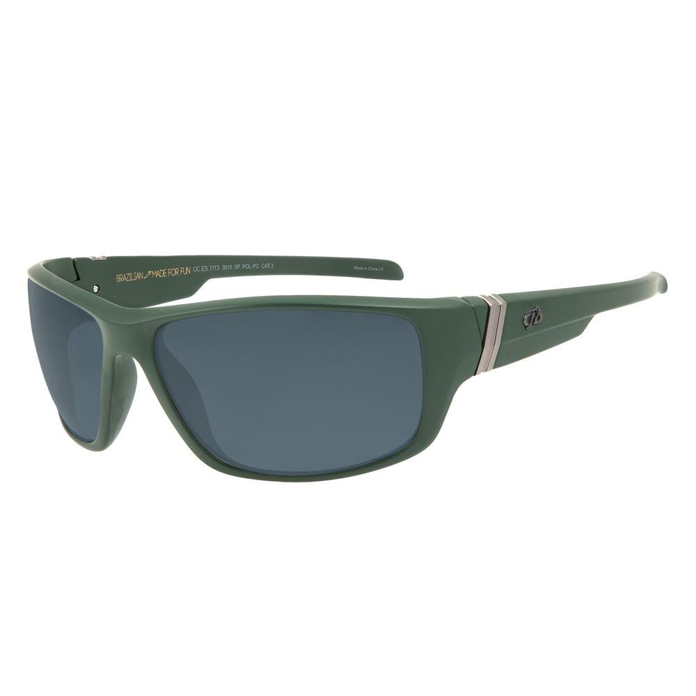 Óculos de Sol Masculino Chilli Beans Esportivo Verde Polarizado OC.ES.1113-0515