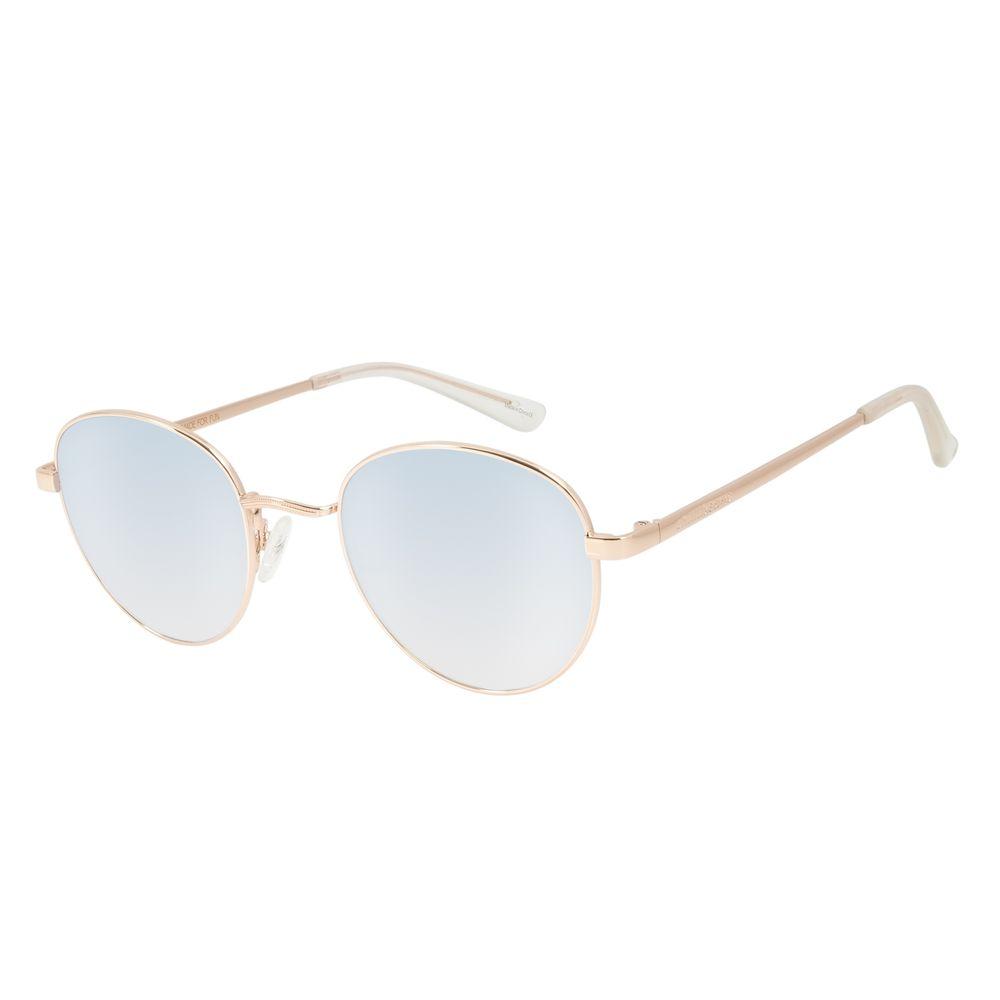 Óculos de Sol Unissex Chilli Beans Redondo Essential Metal Espelhado OC.MT.2517-3295