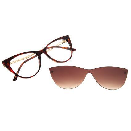Armação Para Óculos de Grau Feminino Multi Gatinho Tartaruga LV.MU.0364-5706