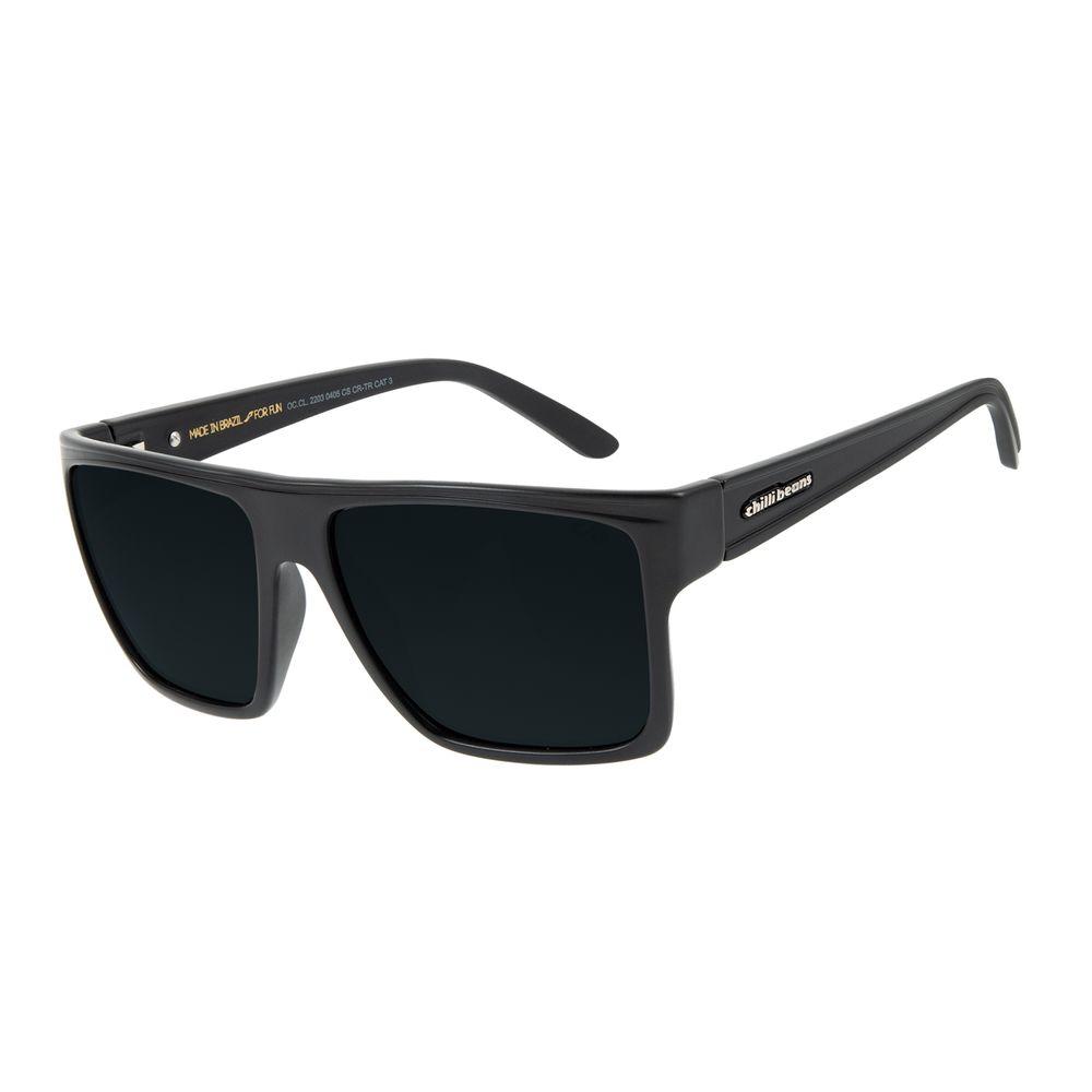 Óculos de Sol Unissex Chilli Beans Quadrado Cinza Polarizado Essential OC.CL.2203-0405