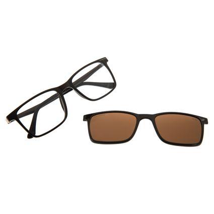Armação Para Óculos De Grau Masculino Chilli Beans Multi Marrom Escuro Polarizado LV.MU.0074-4747