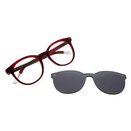Armação para Óculos de Grau Feminino Chilli Beans Multi Redondo Vermelho LV.MU.0408-0416