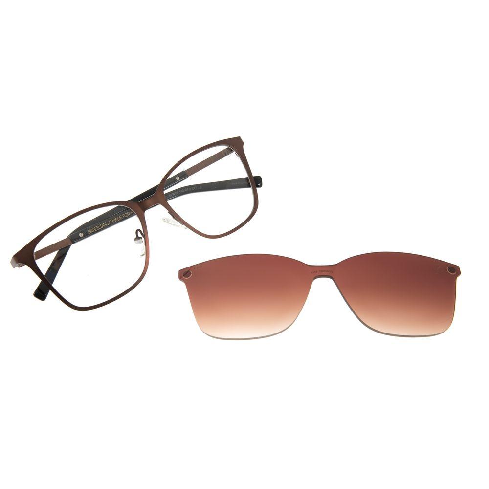 Armação Para Óculos de Grau Chilli Beans Feminino Multi Quadrado Marrom Escuro LV.MU.0425-5747