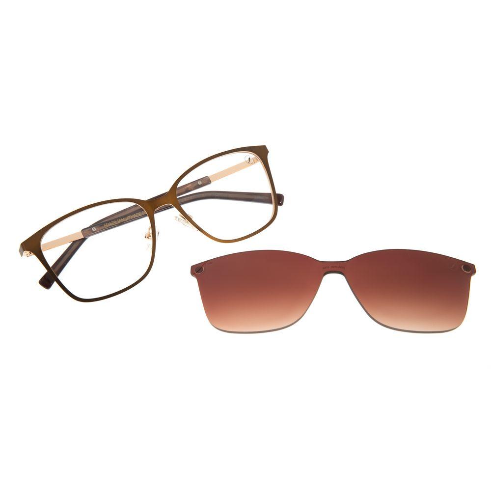 Armação Para Óculos de Grau Chilli Beans Feminino Multi Quadrado Marrom LV.MU.0425-5702
