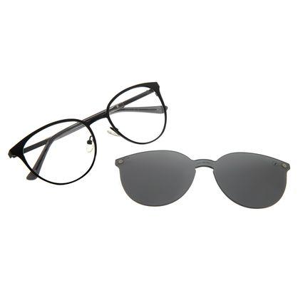 Armação Para Óculos de Grau Feminino Chilli Beans Multi Redondo Metal Preto LV.MU.0429-0101