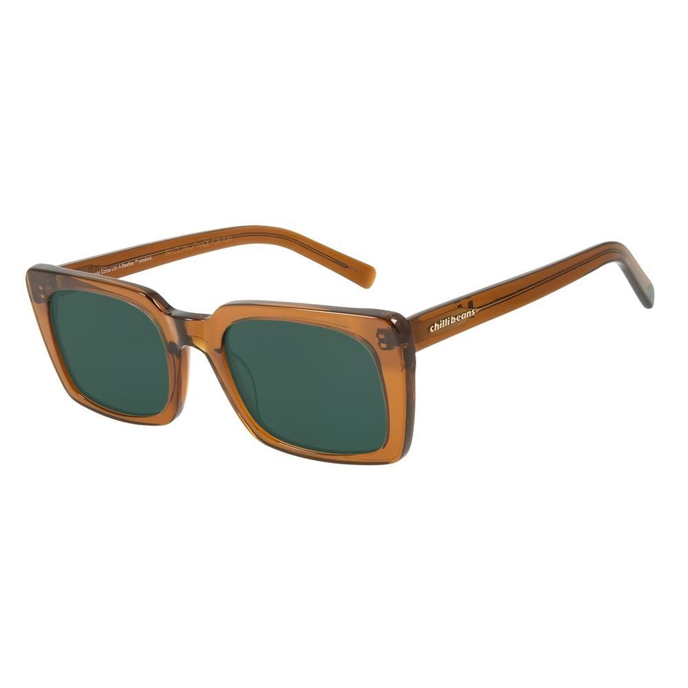 Óculos de Sol Feminino The Beatles Quadrado Marrom OC.CL.3100-1502