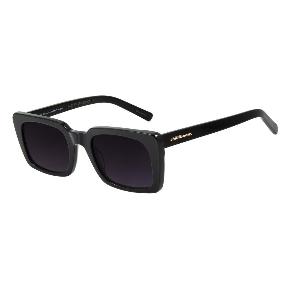 Óculos de Sol Feminino The Beatles Quadrado Preto OC.CL.3100-2001