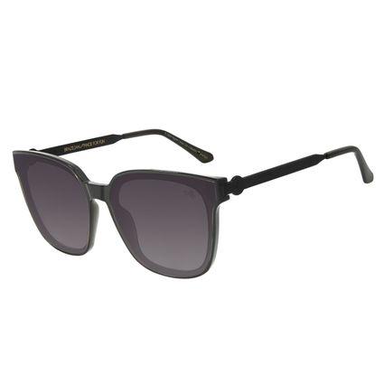 Óculos de Sol Feminino The Beatles Quadrado Preto OC.CL.3104-0501
