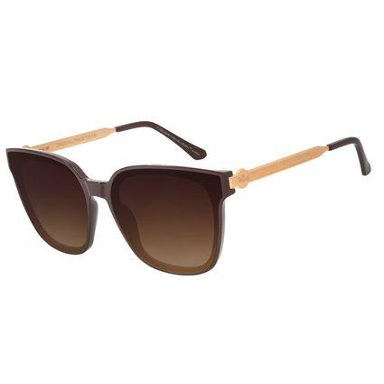 Óculos de Sol Feminino The Beatles Quadrado Vinho OC.CL.3104-5717