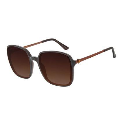 Óculos de Sol Feminino The Beatles Quadrado Cristal Marrom OC.CL.3107-5702